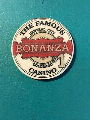 The Famous Bonanza Casino Chip Central City Colorado Issued 1992
