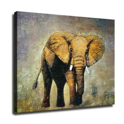 "12""x16""Elephant HD Canvas prints Painting Home Room Decor Wall art poster"