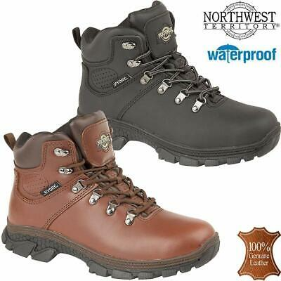 Mens NORTHWEST Leather Walking Hiking Waterproof Ankle Work Boots Trainers Shoes