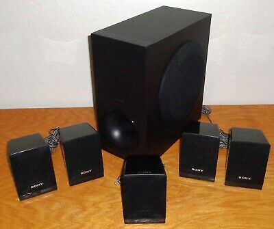 5+1 Sony Speaker System for Sony DAV-TZ140 5.1 Channel Home Theater System Works