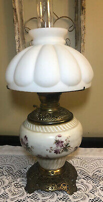 Hand Painted Electrified Oil Lamp 22""