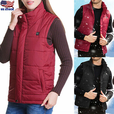Electric USB Winter Heated Warm Vest Men Women Heating Coat Jacket Clothing Gift