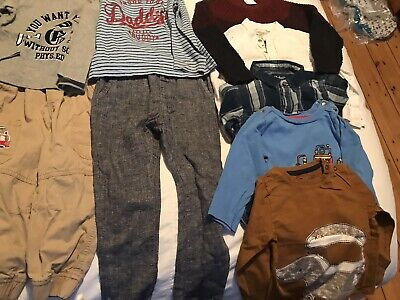 Age 2 Boys Mixed Clothing bundle 15 Items, trousers/t-shirts/jumpers Etc