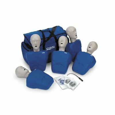 CPR Prompt (5 Pack) BLUE Adult/Child Manikins w/50 Lung Bags, Nylon Carry Case