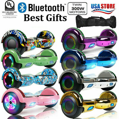 "6.5"" Hoverboard Bluetooth Electric Self Balance Scooter W/ Bag Chrismas Gift"