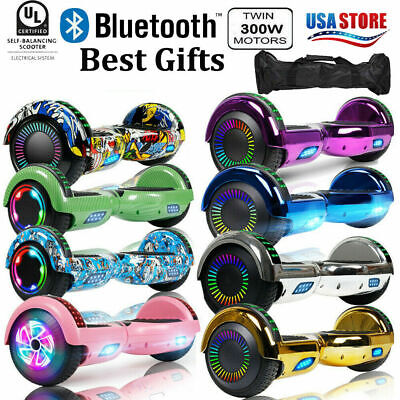 """6.5"""" Hoverboard Bluetooth Electric Self Balance Scooter With Bag Chrismas Gift"""
