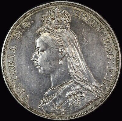 1888 Silver Crown Victoria S#3921 Extremely Fine