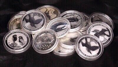 1oz Silver Bullion Coins - Miscellaneous Countries, Dates and Designs 99.9% Pure