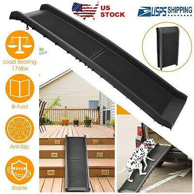 Outdoor Travel Pet Ramp Foldable Dog Car Ramp 176lbs Load Non-Skid Ladder Step