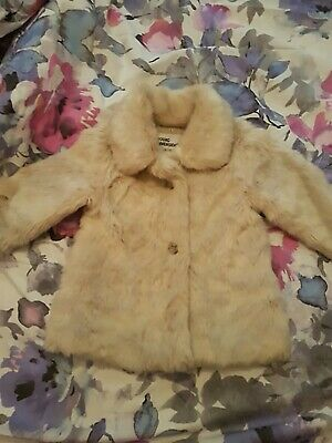 Little Girls Fake Fur Coat Age 5/6 Years pre-worn