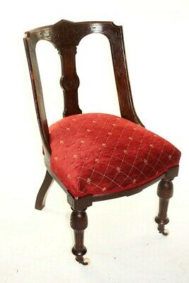 A Quality Victorian Mahogany Spoon Back Chair - FREE Shipping [5709 D]