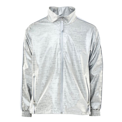 Rains Unisex 1702 Track Jacket Relaxed Dripping Silver Grey Size S/M