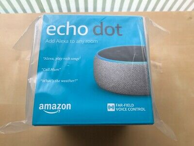 Amazon Echo Dot 3rd Generation Alexa Smart Speaker Heather Grey Fabric