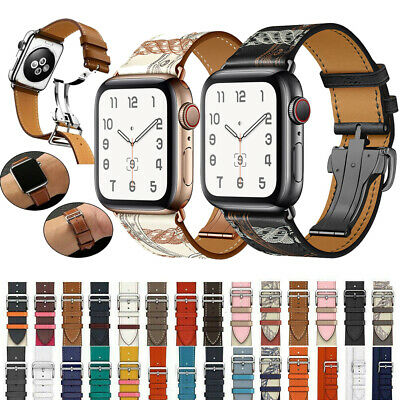 Luxury Bracelet New Grid Strap Leather Watch Band For Apple Watch Series 5 4 3 2