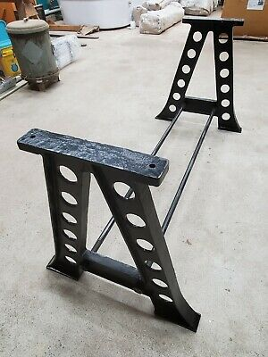 A-Frame Cast Iron table Legs: industrial steampunk vintage dining table base
