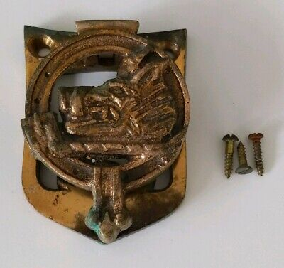RARE MACWATT Brass BOAR Door Knocker ~ Made in Scotland