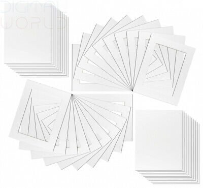 20 x White Picture Mounts for Photos by Framing Incredible   Includes Backs...