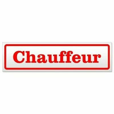 Chauffeur Magnetic Sign Sign Magnetic