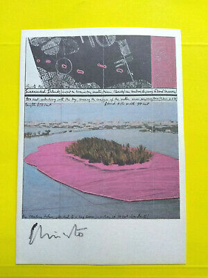 "Christo and Jeanne-Claude > Signed > ""Surrounded Islands"" 4X6 Florida Project !"