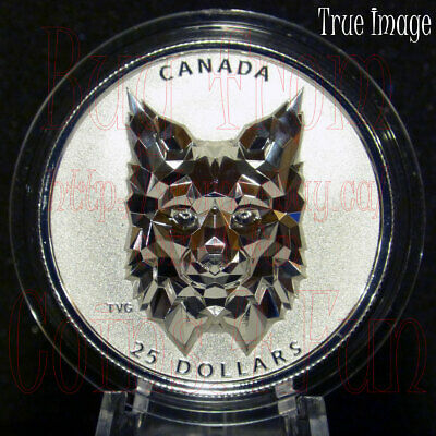 2020 - Lynx - Multifaceted Animal Head #3 $25 EHR Proof Silver Coin Canada