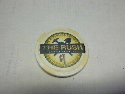 # 12 Casino Poker Chip} The Rush- Cripple Creek Colo.    Rare