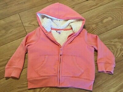 Girls John Lewis Borg Lined Hoodie Age 3-4 Years