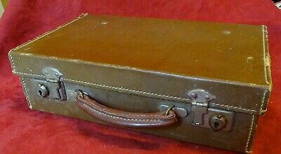 Vintage Leather Case with Art Materials