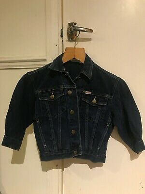 Authentic vintage Trader jeans company boys blue denim jacket age 4 years