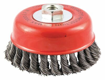 "5"" Knotted Wire Cup Brush, Arbor Hole Mounting, 0.020"" Wire Dia. 7/8"" Bristle"
