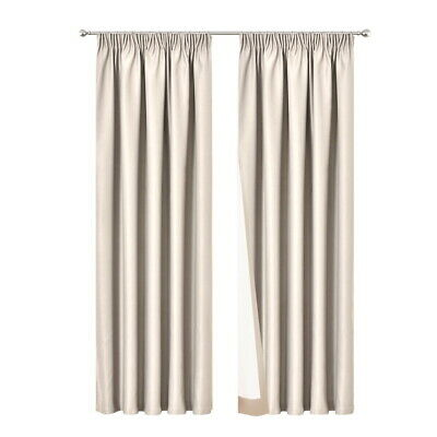 Art Queen 2X Blockout Curtains Pinch Pleat Blackout Room Darkening SD 240x230cm