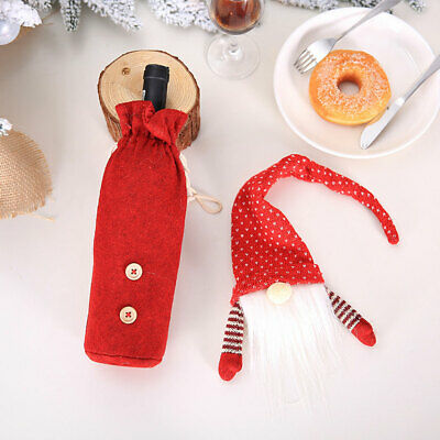 Santa Claus Non Woven Gift Party Festival Christmas Decoration Wine Bottle Cover
