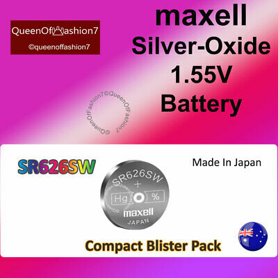 1 x Maxell  SR626 QueenOf7 SR626SW  Silver Oxide 377/AG4 Battery Batteries