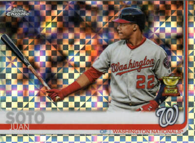 JUAN SOTO 2019 Topps CHROME X-FRACTOR REFRACTOR CARD# 155 NATIONALS ROOKIE CUP
