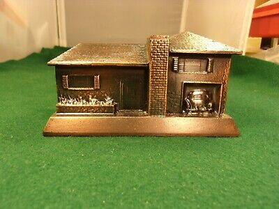 "Mint Cond Vtg Coin Bank ""Home Savings Assn. Odessa, Tx"" (""Ranch"" Style House) +1"