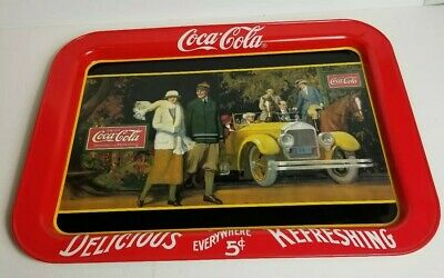 "Vtg 1987 Marsh Allan COCA COLA /""Touring Car/"" Metal COKE TV TRAY New! Sealed!"