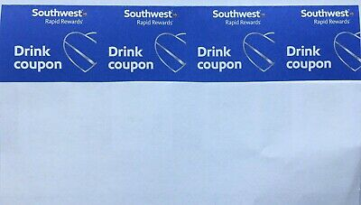 Southwest Airlines Drink Coupons (4) Expires November 30, 2020