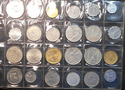 Israel Bulk lot of 24 coin mainly UNC