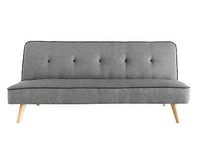 3 Seater Sofa Bed Fabric Recliner Couch Settee Foam Modern Click Clack Double