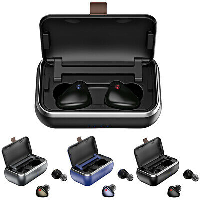 Bluetooth Headset Wireless Portable HD With Charing Case 3D Stereo Rechargeable