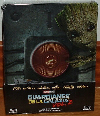 Guardians of the Planets VOL.2 Steelbook Blu-Ray 3D + Blu-Ray New Sealed R2