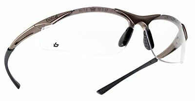 BOLLE CONTOUR Safety Glasses Clear Smoke ESP Lens Anti-Fog Anti-Scratch