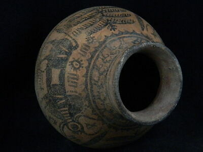 Ancient Large Size Teracotta Painted Pot With Bulls Indus Valley 2500 BC #PT425