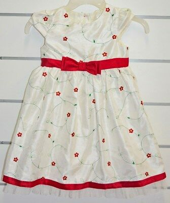 NEW - Girls White Dress Christmas Dress Winter White Festive Dress - Size: 5T