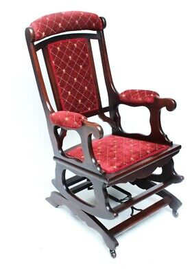 Antique Victorian Mahogany Rocking Chair - Free Shipping [5710]