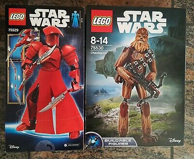 "LEGO 75530 Star Wars ""Chewbacca"" + LEGO 75529 Star Wars ""Elite Pretorian Guard"""