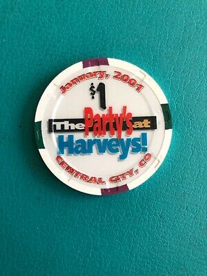 Harveys Central City Colorado Casino Chip Issued 2001 Closed 2003