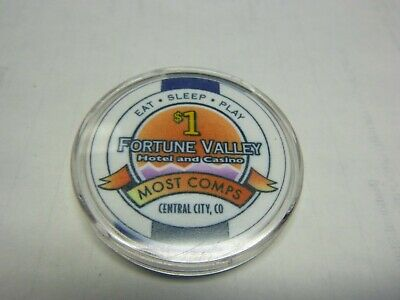 Casino Chip} Fortune Valley Casino- Central City Colorado- Uncirculated