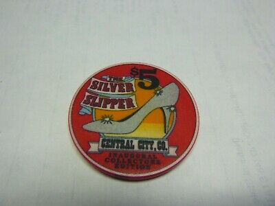 #44 Casino Chip} Silver Slipper Casino- Central City Co- Lot Of 20-Inaugural