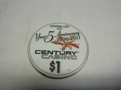 #15  Casino Chip} Century Casino- Central City Colorado-