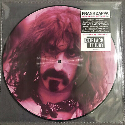 """Frank Zappa Peaches En Regalia 10"""" Picture Disc RSD 2019 Numbered"""